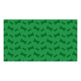 Modelo verde lindo de los huesos de perro plantilla de tarjeta de negocio