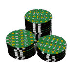 Modelo verde lindo de pascua de la cesta del huevo fichas de póquer