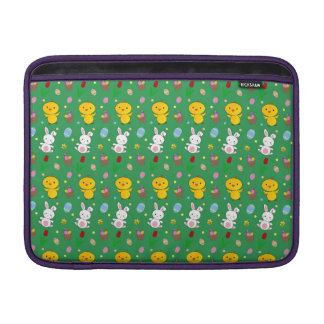 Modelo verde lindo de pascua de la cesta del huevo funda para macbook air