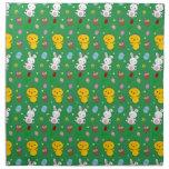 Modelo verde lindo de pascua de la cesta del huevo servilleta de papel