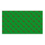 Modelo verde lindo del reno tarjeta de visita
