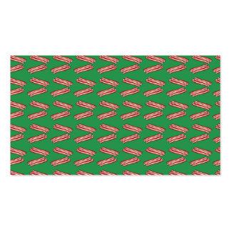 Modelo verde lindo del tocino tarjeta de visita