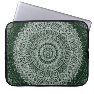 Modelo verde medio-oriental mangas computadora