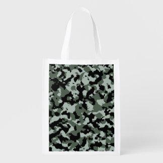 Modelo verde militar del camuflaje bolsa de la compra