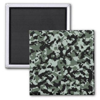 Modelo verde militar del camuflaje imán cuadrado