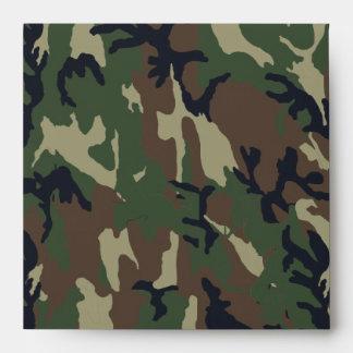 Modelo verde militar del camuflaje sobre