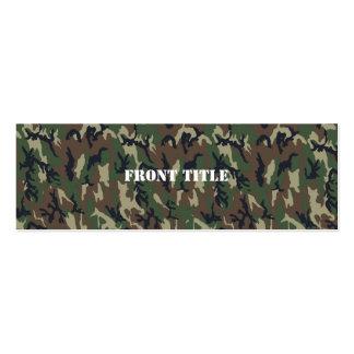 Modelo verde militar del camuflaje tarjetas de visita mini