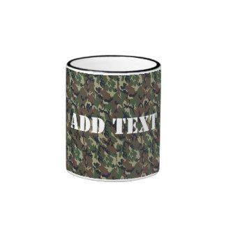 Modelo verde militar del camuflaje taza de dos colores
