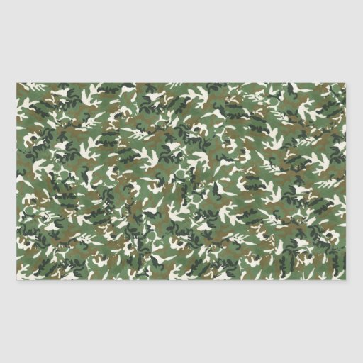 Modelo verde militar fresco del camuflaje pegatina rectangular