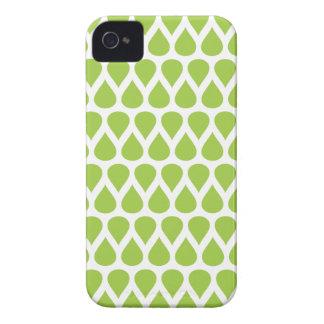 Modelo verde moderno de la gota de agua iPhone 4 Case-Mate carcasas