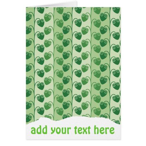 modelo verde natural del verano fresco tarjeta pequeña