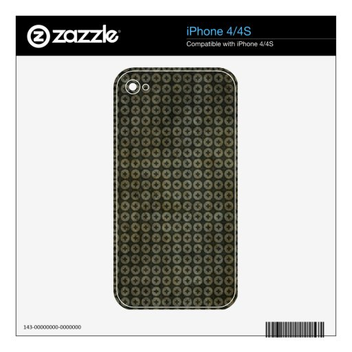 Modelo verde oscuro de la cruz del círculo iPhone 4S calcomanías