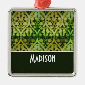 Modelo verde oscuro del vintage ornamentos de navidad