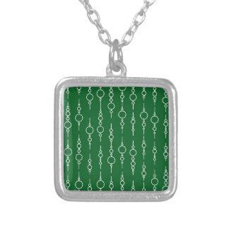 Modelo verde pinta 62 del círculo del trébol colgante cuadrado