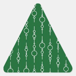 Modelo verde pinta 62 del círculo del trébol pegatina triangular