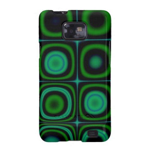 Modelo verde retro maravilloso del estallido del H Galaxy S2 Fundas