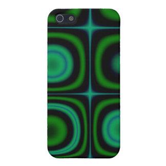 Modelo verde retro maravilloso del estallido del H iPhone 5 Carcasa