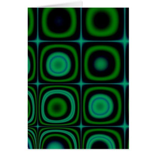 Modelo verde retro maravilloso del estallido del H Felicitaciones