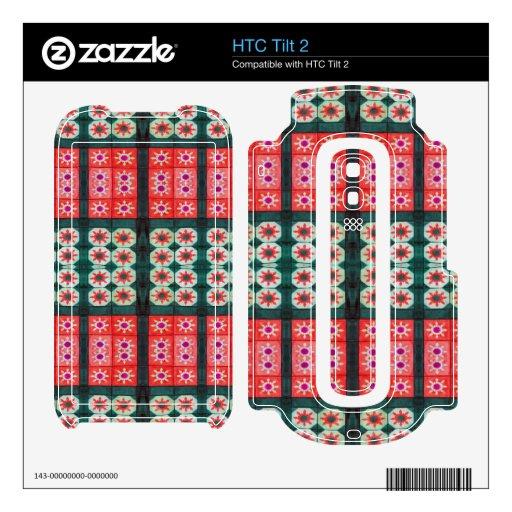 modelo verde rojo de la teja HTC tilt 2 calcomanía