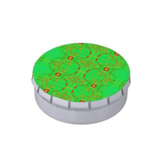 Modelo verde rojo del cordón del navidad jarrones de dulces