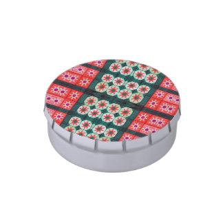 Modelo verde rojo del navidad