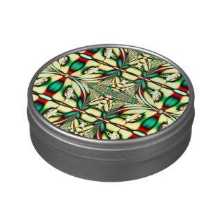 Modelo verde rojo elegante del navidad jarrones de caramelos