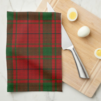 Modelo verde rojo escocés de la tela escocesa de t toalla de mano