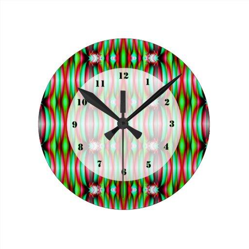 Modelo verde rojo festivo bonito relojes