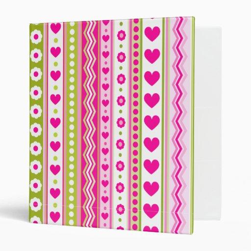 """Modelo verde rosado abstracto + corazones de las f carpeta 1"""""""