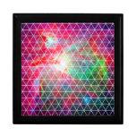 Modelo verde rosado de la red de la nebulosa caja de regalo