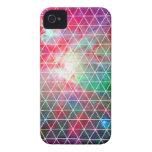 Modelo verde rosado de la red de la nebulosa Case-Mate iPhone 4 cárcasas