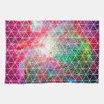 Modelo verde rosado de la red de la nebulosa toalla