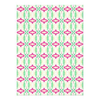 Modelo verde rosado de las cadenas de las rayas comunicado
