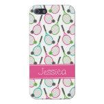 Modelo verde rosado de muy buen gusto del tenis de iPhone 5 protector
