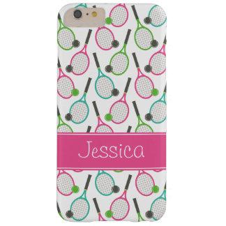 Modelo verde rosado de muy buen gusto del tenis funda de iPhone 6 plus barely there
