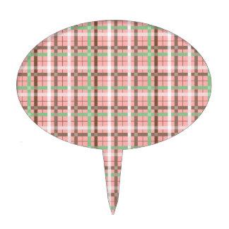Modelo verde rosado femenino de la tela escocesa d figuras de tarta