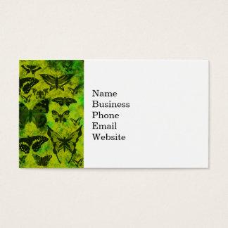 Modelo verde y amarillo de la diversión de la tarjeta de negocios