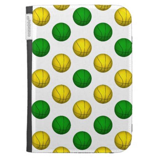 Modelo verde y amarillo del baloncesto