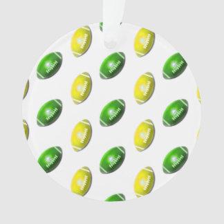 Modelo verde y amarillo del fútbol