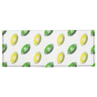 Modelo verde y amarillo del fútbol billeteras tyvek®