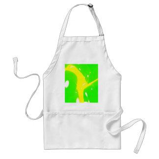 Modelo verde y amarillo delantal