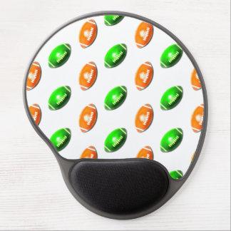 Modelo verde y anaranjado del fútbol alfombrilla de raton con gel