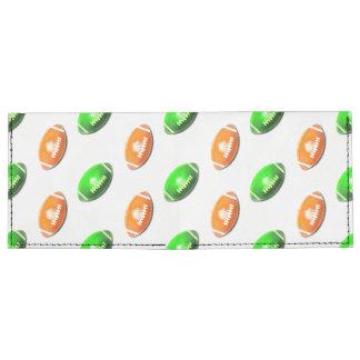 Modelo verde y anaranjado del fútbol billeteras tyvek®