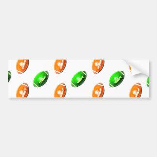 Modelo verde y anaranjado del fútbol pegatina para auto