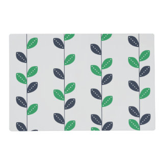 Modelo verde y azul de muy buen gusto de la hoja tapete individual