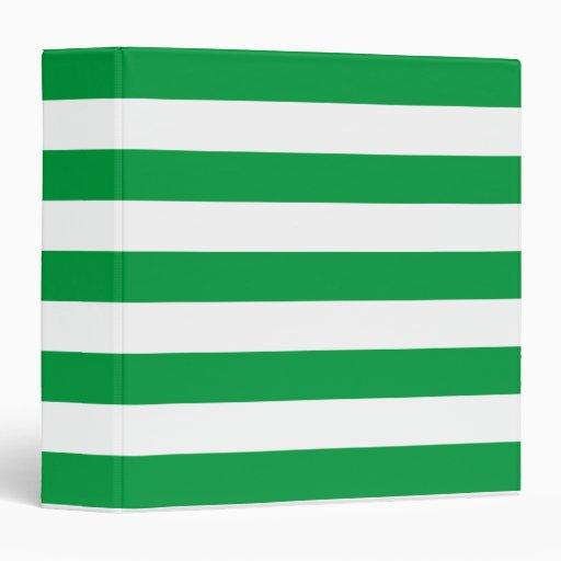 Modelo verde y blanco básico de las rayas