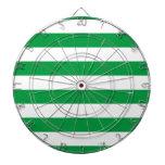 Modelo verde y blanco básico de las rayas tabla dardos