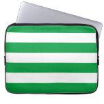 Modelo verde y blanco básico de las rayas fundas portátiles