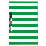 Modelo verde y blanco básico de las rayas pizarra blanca