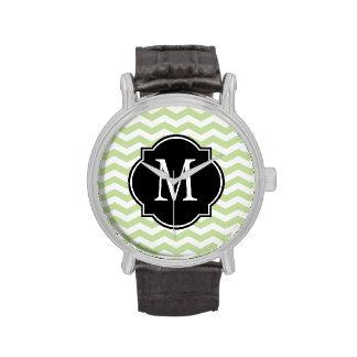 Modelo verde y blanco de Chevron Reloj De Mano